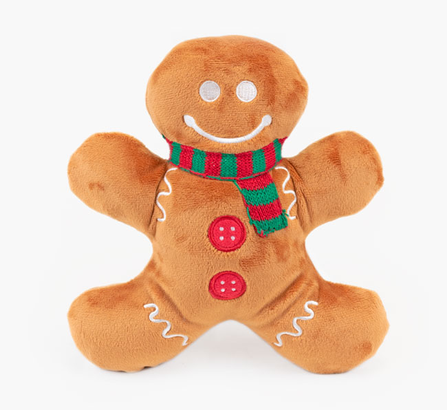 Plush Gingerbread Man Dog Toy