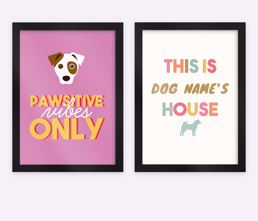 Personalised Dog Wall Art