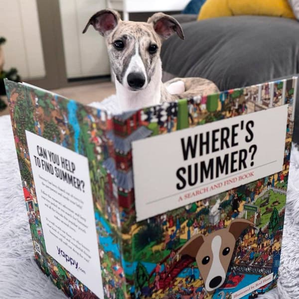 Summer looking inside her Personalised Where's Book