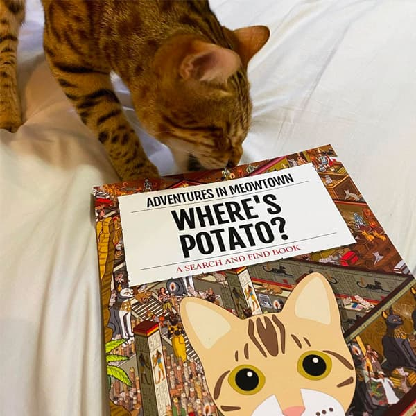 Potato checking out their very own Personalised Where's Book