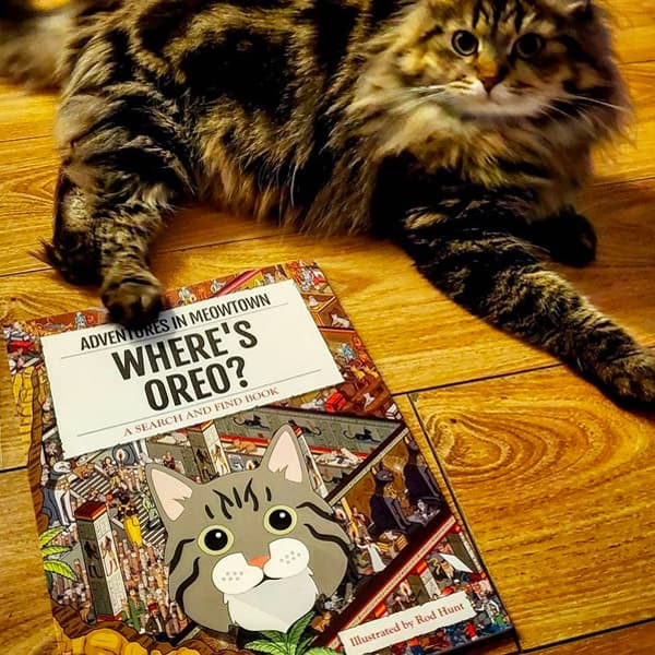Oreo with a Personalised Where's Book