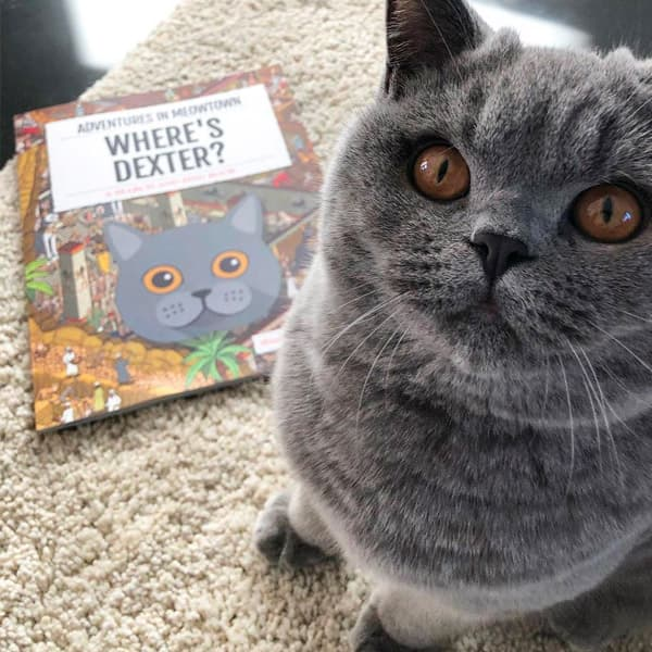 Dexter with his own Personalised Where's Book