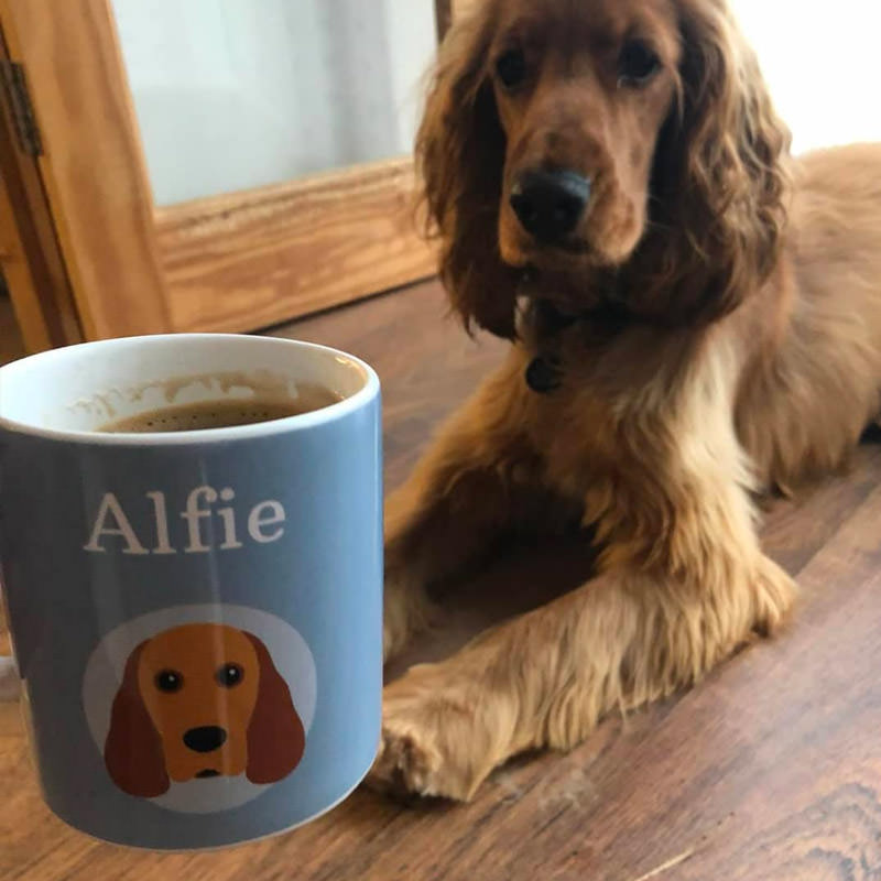 Alfie with his Personalised Yappicon Mug