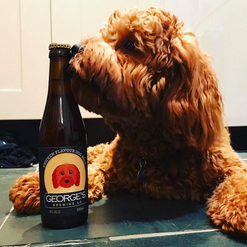 George with his Personalised Beer