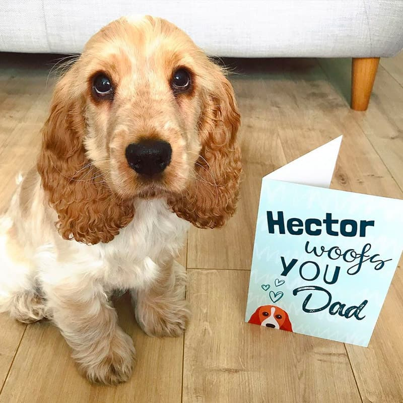Hector with Personalized Woofs You Card