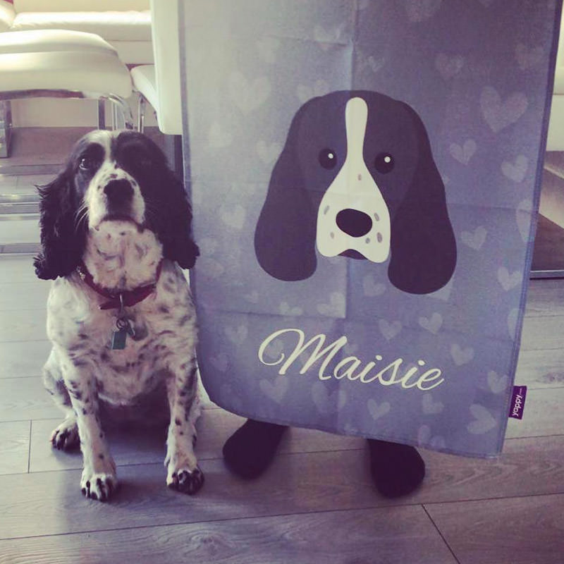 Maisie with her Personalised Yappicon Tea Towel