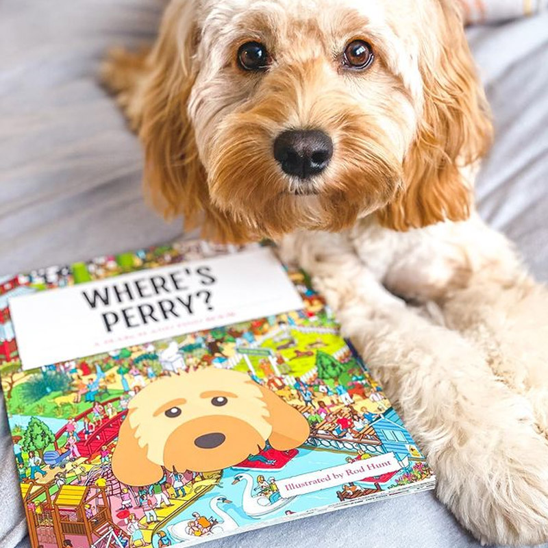 Perry with his Personalised Where's Book