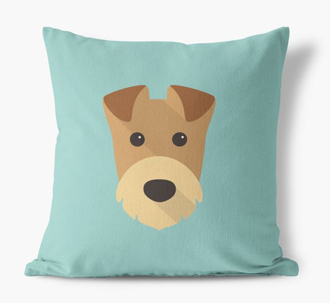 Airedale Terrier Icon Canvas Cushion