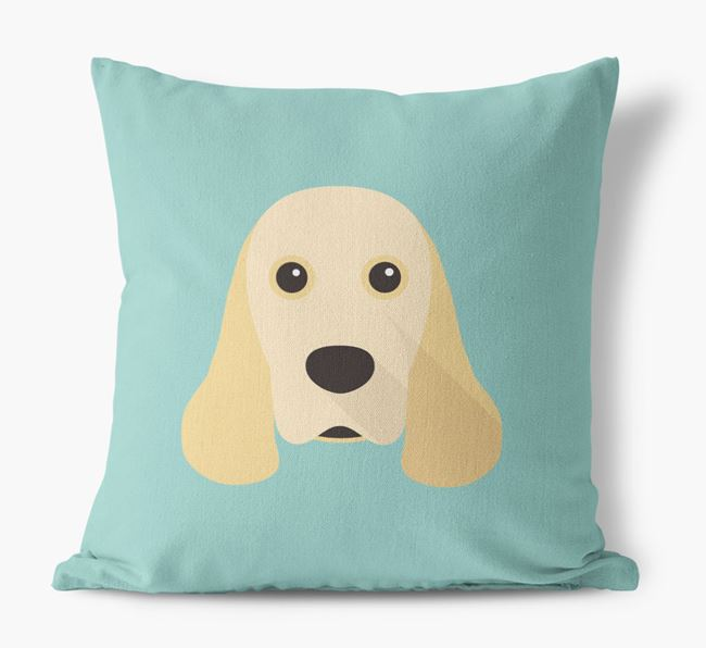 American Cocker Spaniel Icon Canvas Cushion