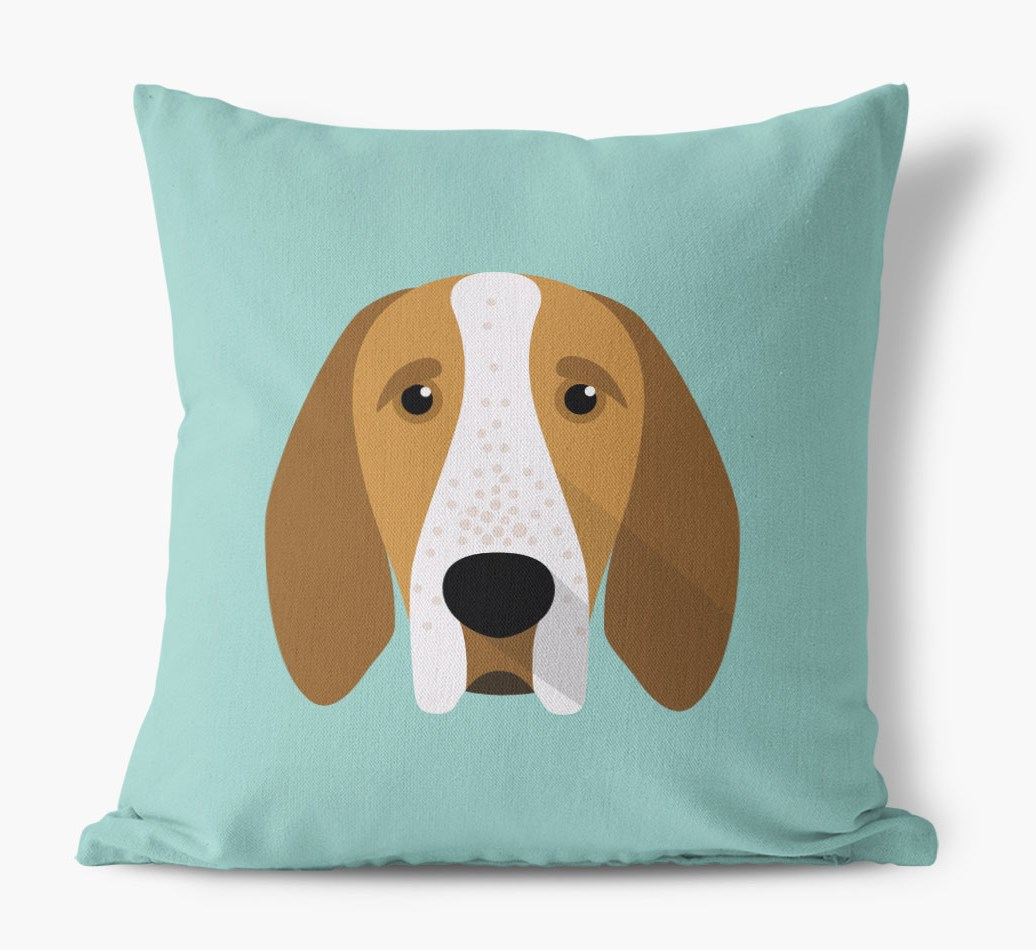 {colour} Bracco Italiano Icon Canvas Cushion front view
