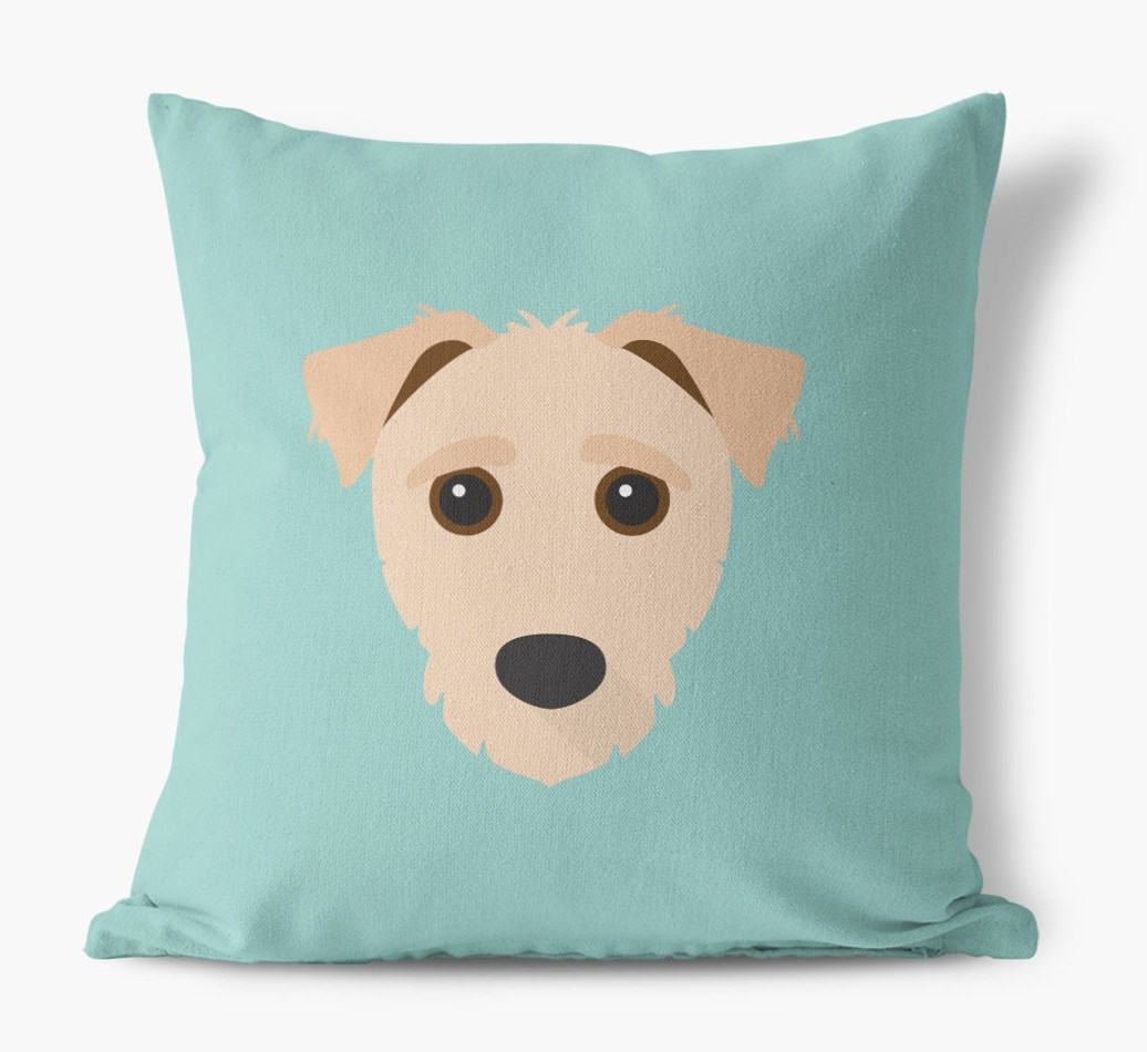 {colour} Jack-A-Poo Icon Canvas Cushion front view