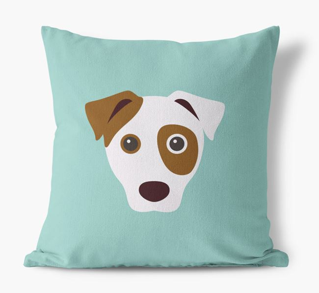 Dog Icon Canvas Cushion