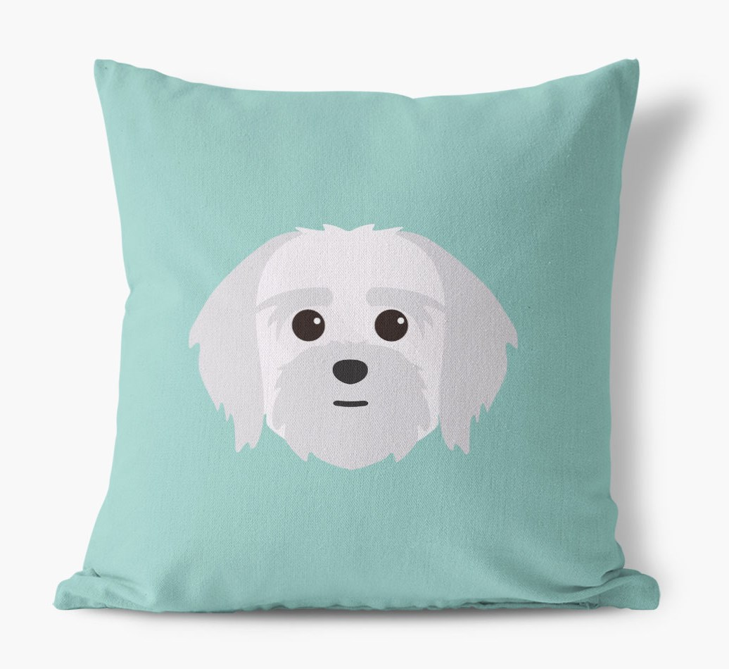 {colour} Lhatese Icon Canvas Cushion front view