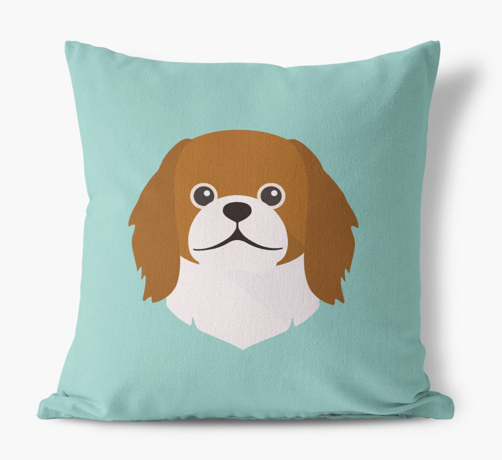 {colour} Pekingese Icon Canvas Cushion front view
