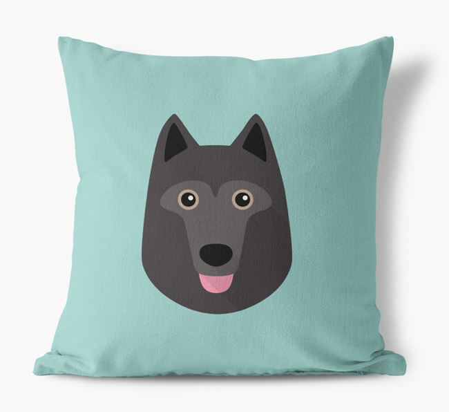 Schipperke Icon Canvas Cushion