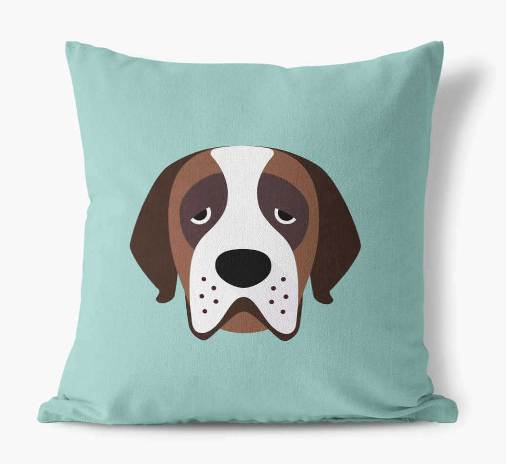 {colour} St. Bernard Icon Canvas Pillow front view