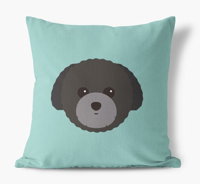 Toy Poodle Icon Canvas Cushion