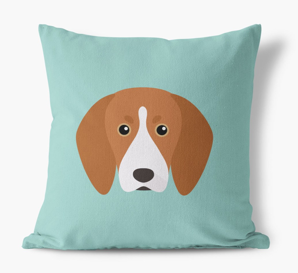 {colour} Treeing Walker Coonhound Icon Canvas Cushion front view