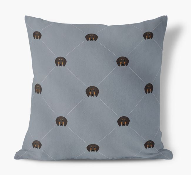 Dog Icon Faux Suede cushion
