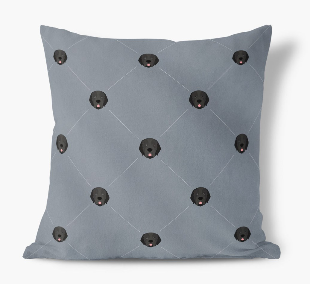 Newfoundland {colour} Icon Pattern Faux Suede Cushion front view
