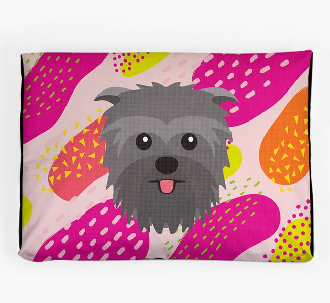 Personalised 'Abstract Design' Dog Bed for your Affenpinscher