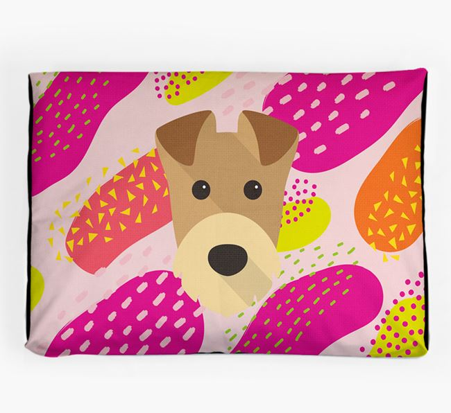 Personalised 'Abstract Design' Dog Bed for your Airedale Terrier