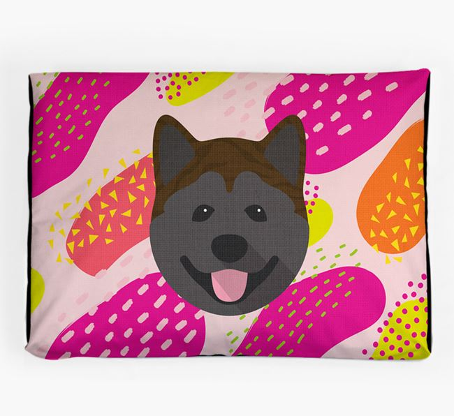 Personalised 'Abstract Design' Dog Bed for your Akita