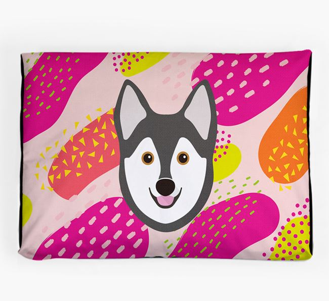 Personalised 'Abstract Design' Dog Bed for your Alaskan Klee Kai