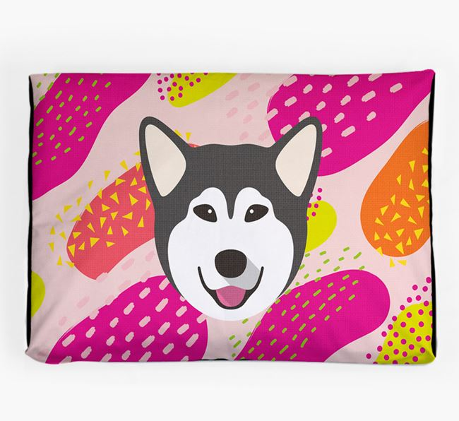 Personalised 'Abstract Design' Dog Bed for your Alaskan Malamute