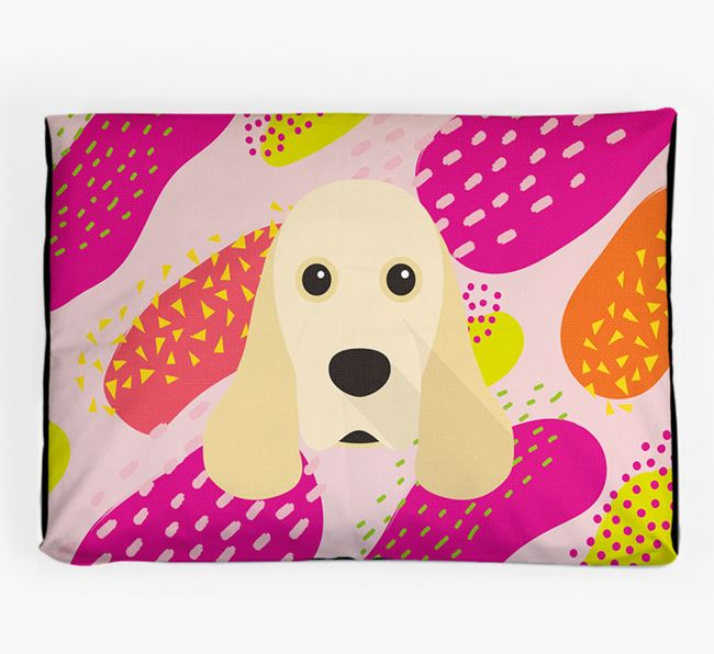 Personalised 'Abstract Design' Dog Bed for your American Cocker Spaniel