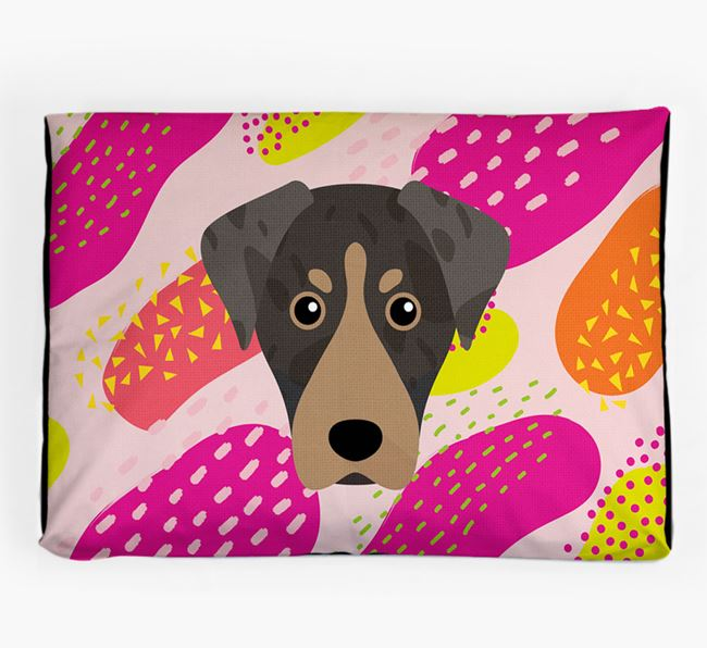 Personalised 'Abstract Design' Dog Bed for your American Leopard Hound