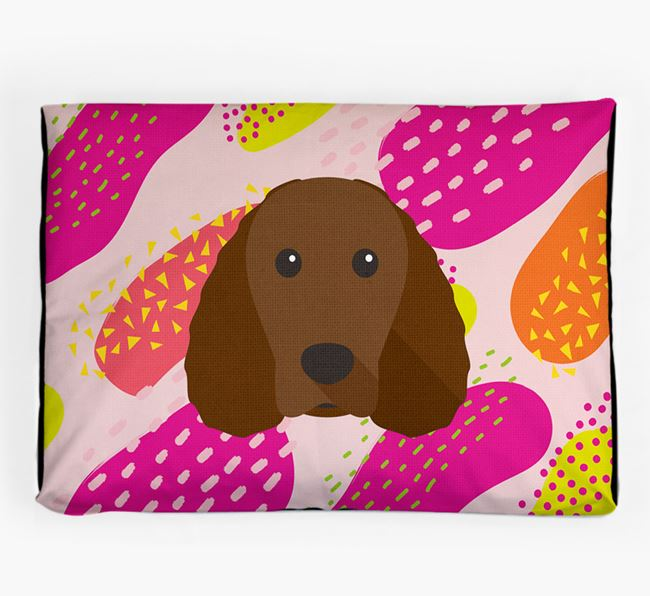 Personalised 'Abstract Design' Dog Bed for your American Water Spaniel