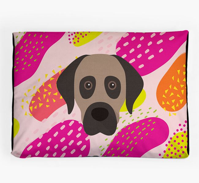 Personalised 'Abstract Design' Dog Bed for your Anatolian Shepherd Dog