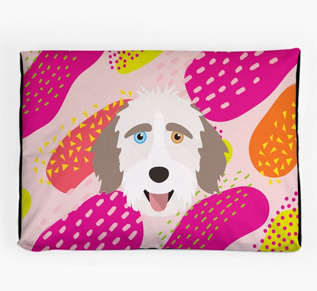 Personalised 'Abstract Design' Dog Bed for your Aussiedoodle