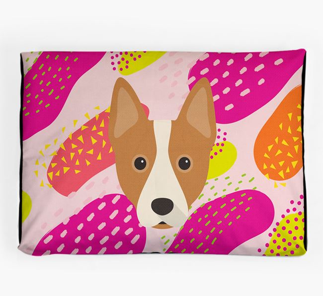 Personalised 'Abstract Design' Dog Bed for your Australian Cattle Dog