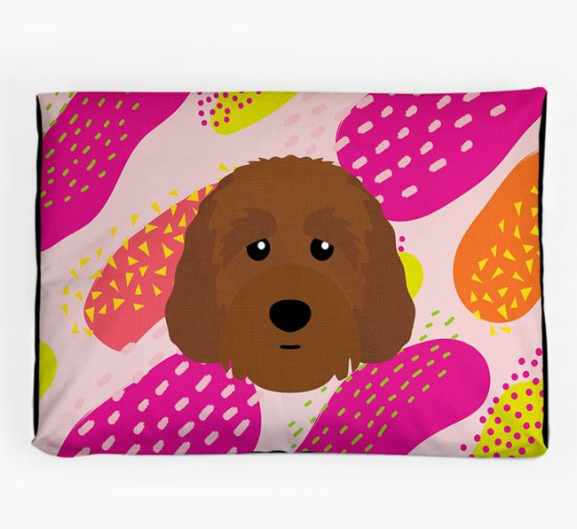 Personalised 'Abstract Design' Dog Bed for your Australian Labradoodle
