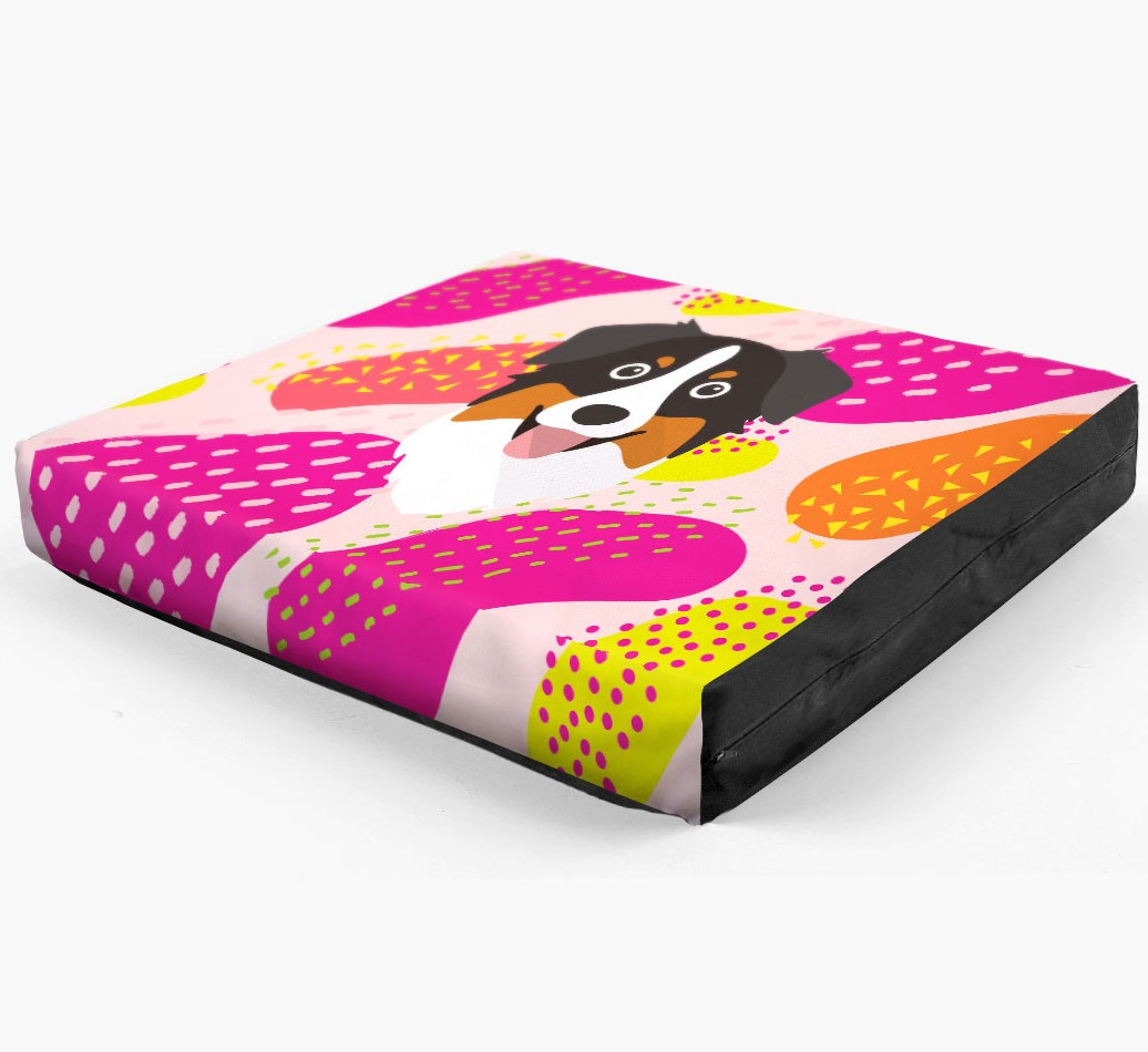 Personalised 'Abstract Design' Dog Bed for your Australian Shepherd