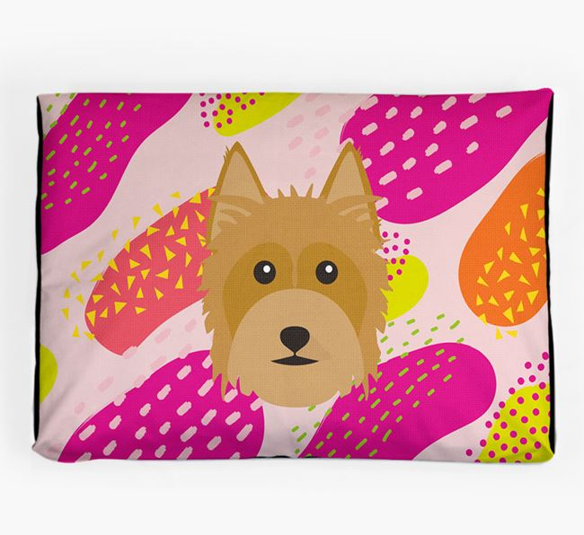 Personalised 'Abstract Design' Dog Bed for your Australian Silky Terrier