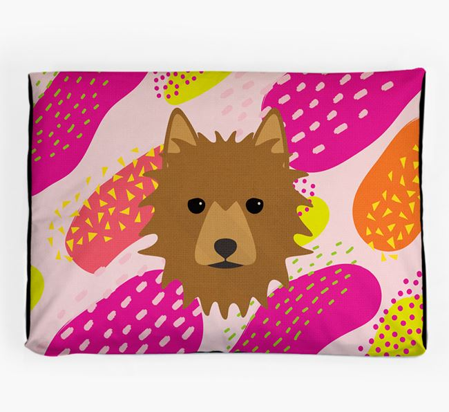 Personalised 'Abstract Design' Dog Bed for your Australian Terrier