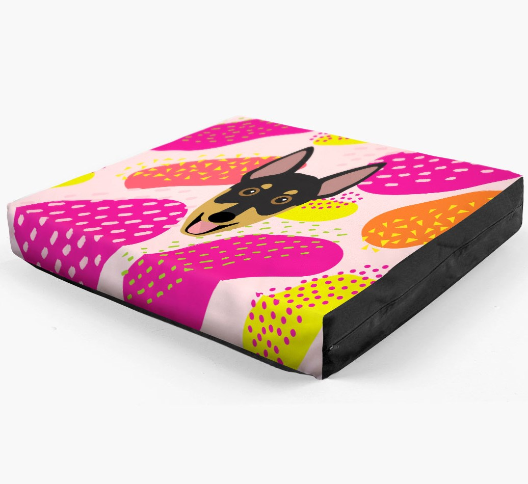Personalised 'Abstract Design' Dog Bed for your Australian Working Kelpie