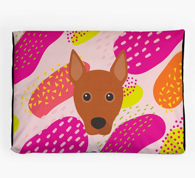 Personalised 'Abstract Design' Dog Bed for your Basenji