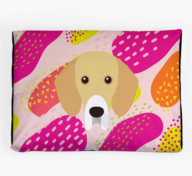 Personalised 'Abstract Design' Dog Bed for your Bassador