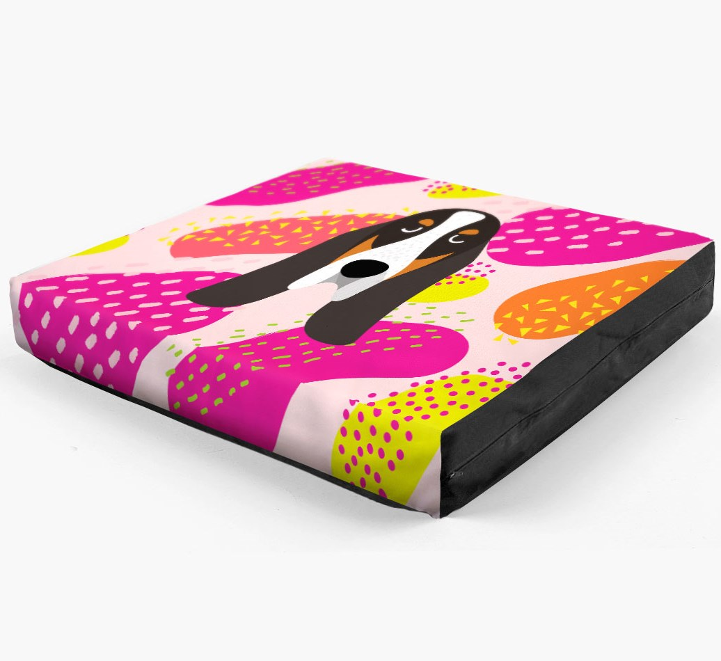 Personalised 'Abstract Design' Dog Bed for your Basset Bleu De Gascogne