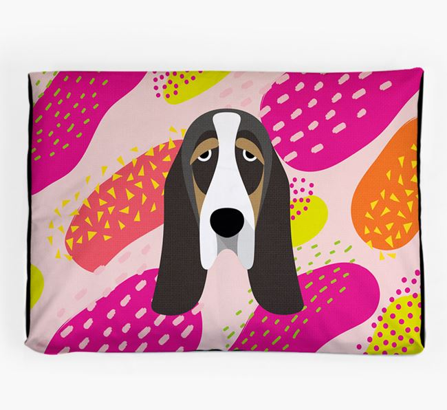 Personalised 'Abstract Design' Dog Bed for your Basset Hound