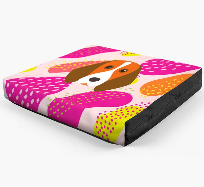 Personalised 'Abstract Design' Dog Bed for your Beagle
