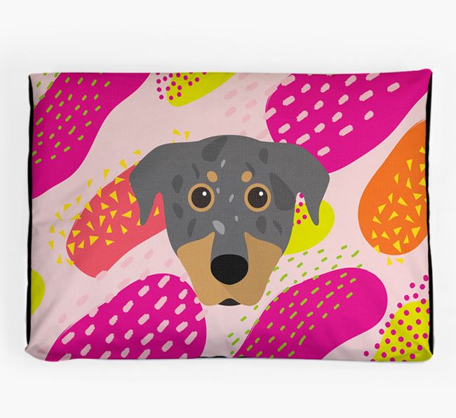 Personalised 'Abstract Design' Dog Bed for your Beauceron