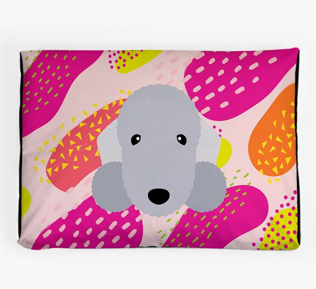 Personalised 'Abstract Design' Dog Bed for your Bedlington Terrier