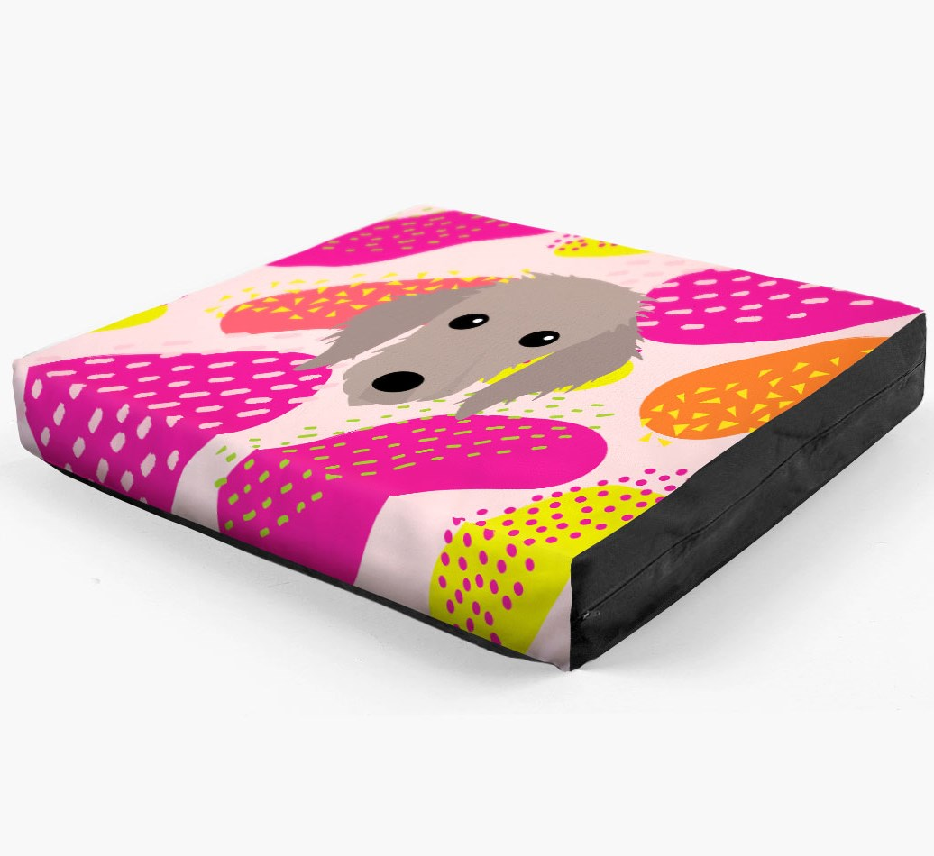Personalised 'Abstract Design' Dog Bed for your Bedlington Whippet
