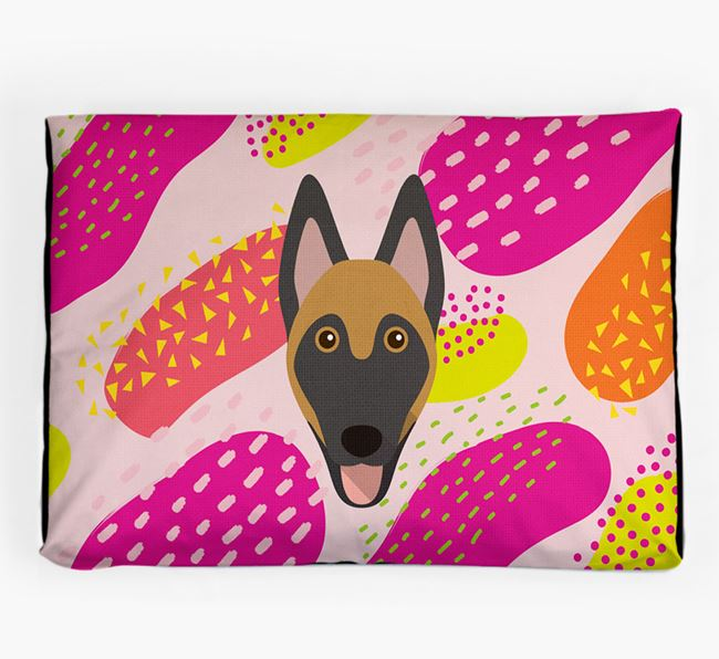 Personalised 'Abstract Design' Dog Bed for your Belgian Malinois