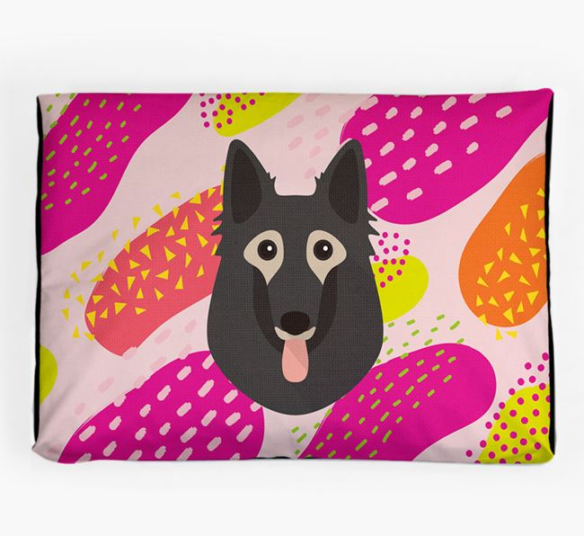 Personalised 'Abstract Design' Dog Bed for your Belgian Tervuren